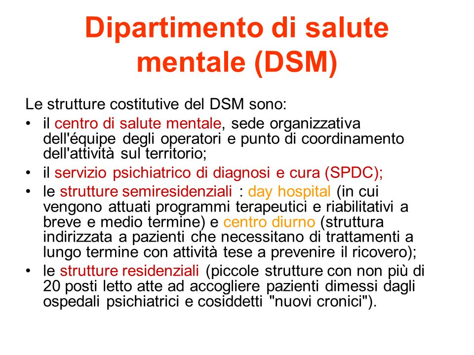 Dipartimento di salute mentale (DSM)