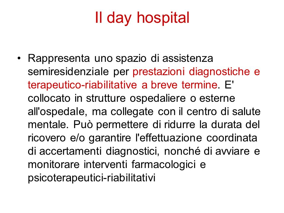 Il day hospital