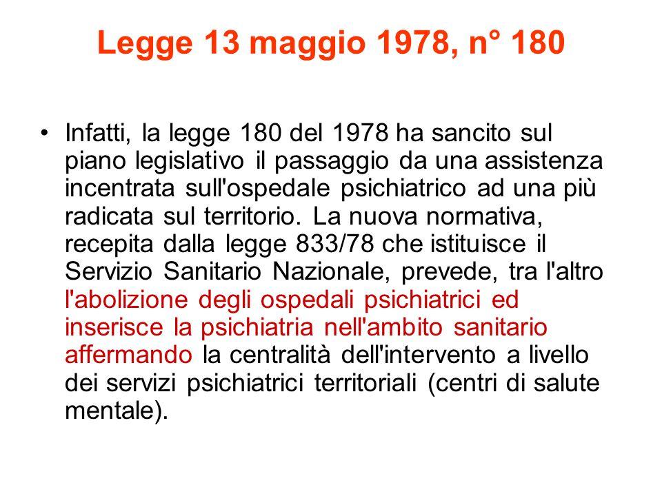 Legge 13 maggio 1978, n° 180