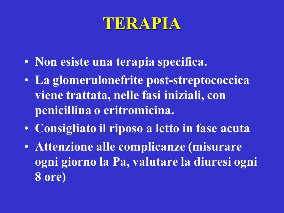 TERAPIA Non esiste una terapia specifica.