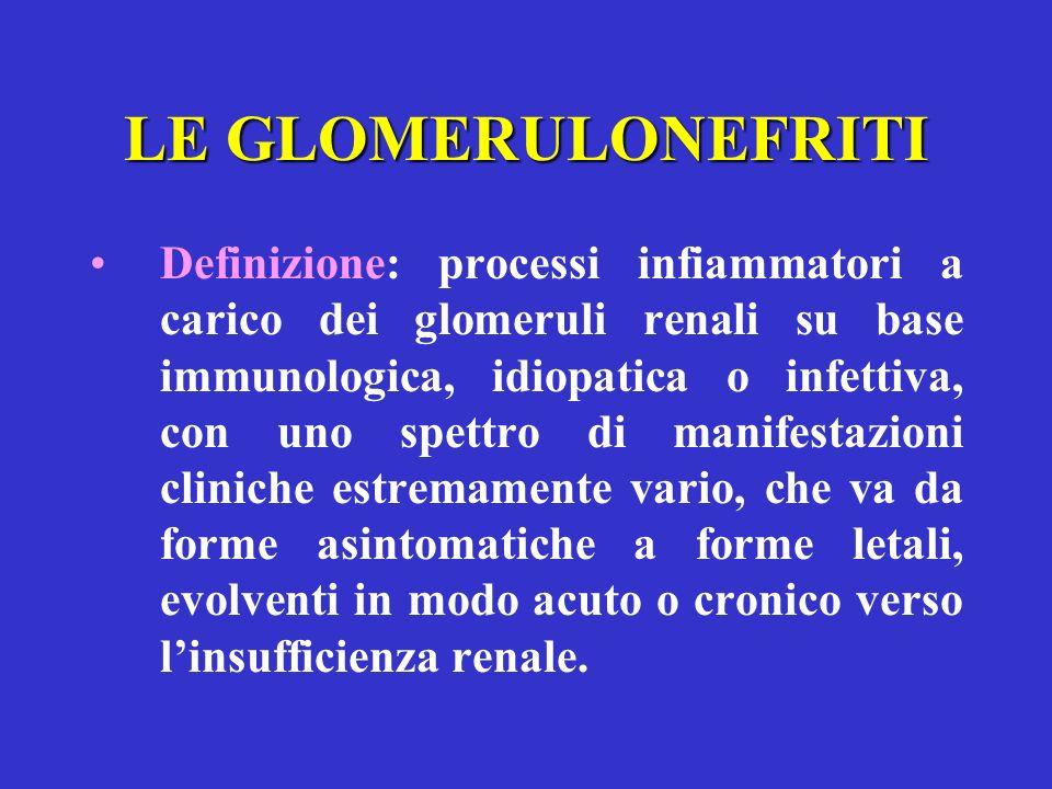 LE GLOMERULONEFRITI
