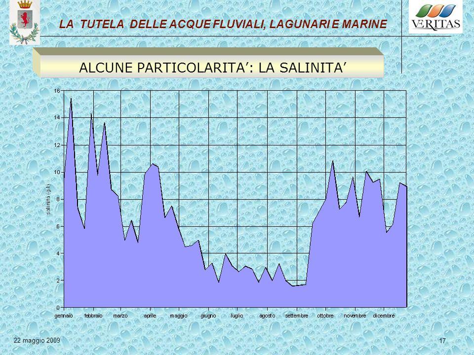 ALCUNE PARTICOLARITA': LA SALINITA'