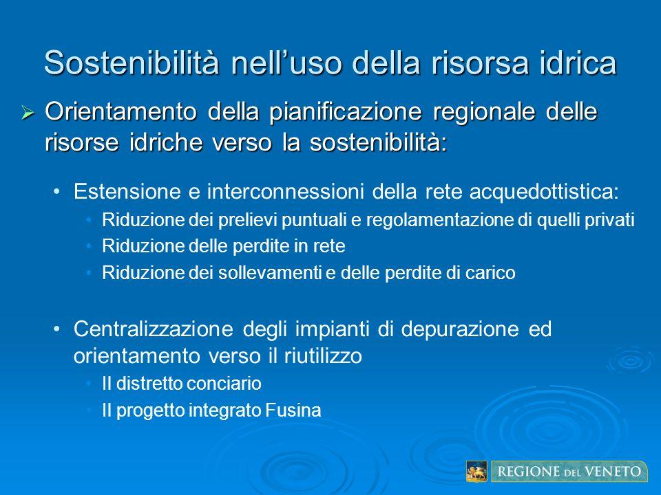 Sostenibilità nell'uso della risorsa idrica