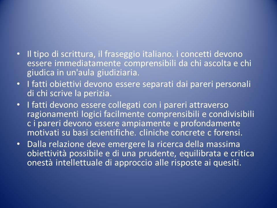 Il tipo di scrittura, il fraseggio italiano