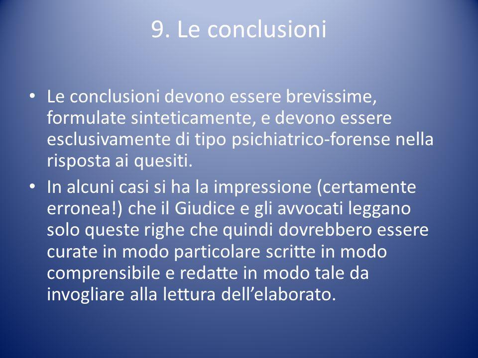 9. Le conclusioni