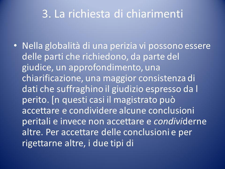 3. La richiesta di chiarimenti