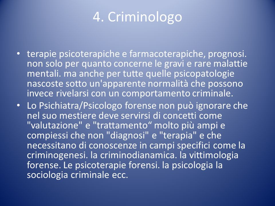 4. Criminologo