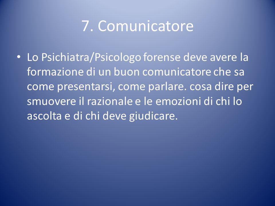 7. Comunicatore