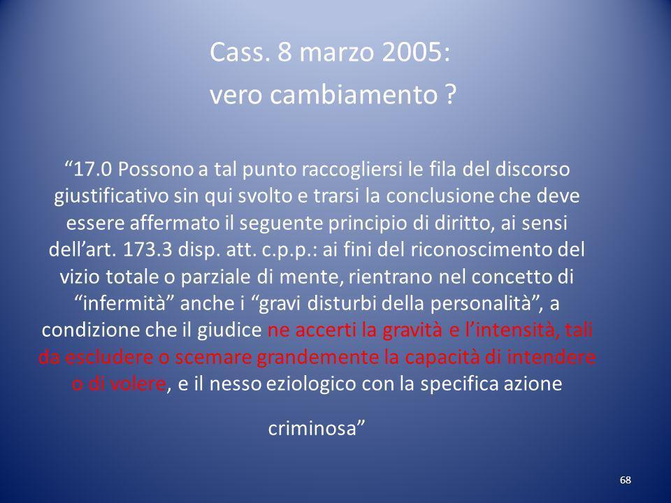 Cass. 8 marzo 2005: vero cambiamento