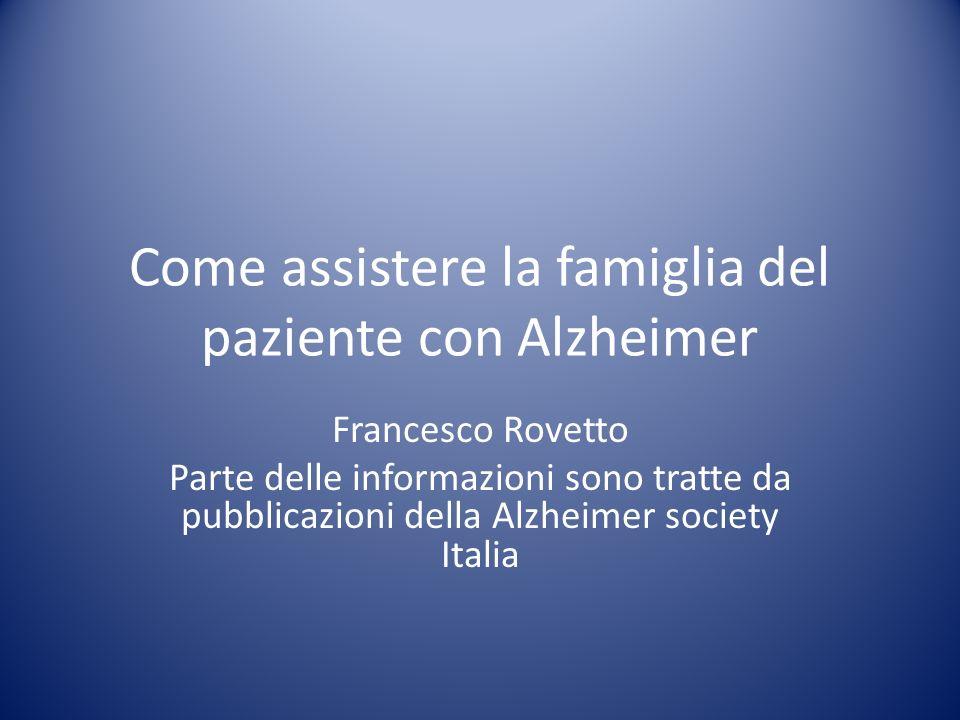 Come assistere la famiglia del paziente con Alzheimer