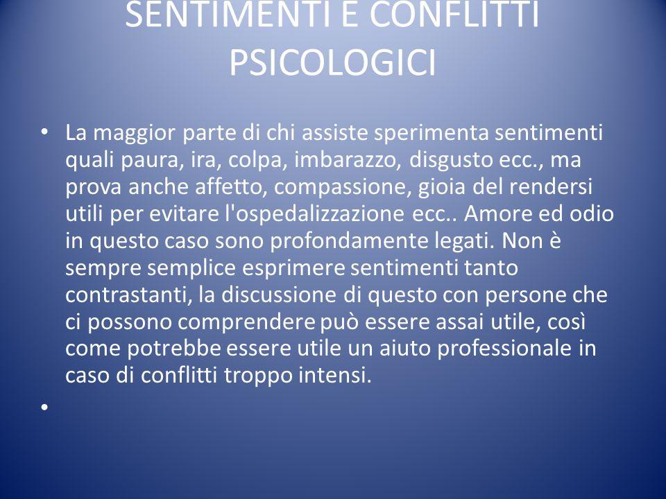 SENTIMENTI E CONFLITTI PSICOLOGICI
