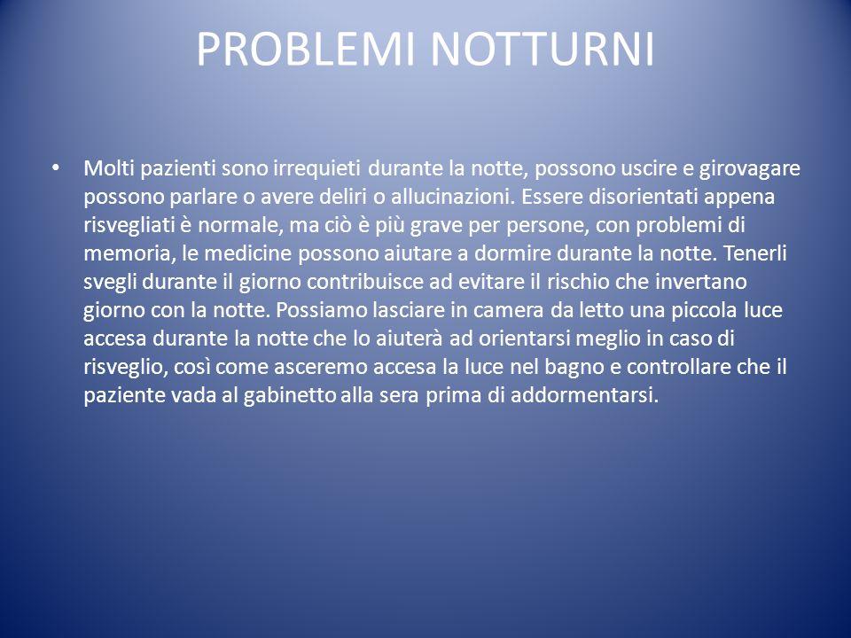 PROBLEMI NOTTURNI