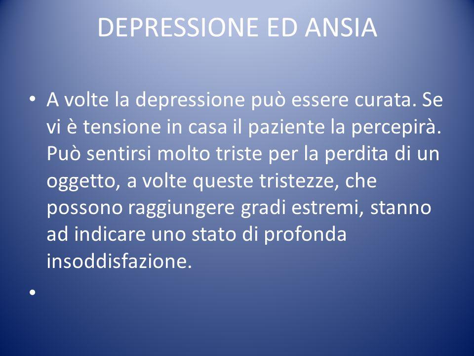 DEPRESSIONE ED ANSIA