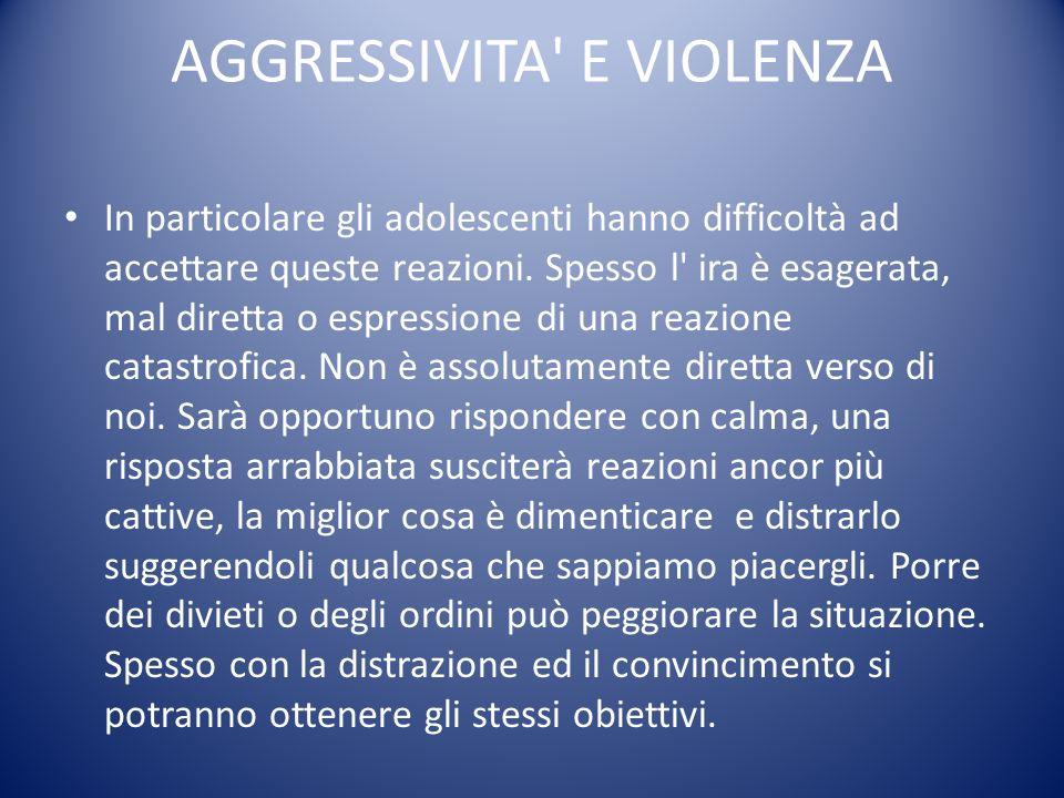 AGGRESSIVITA E VIOLENZA