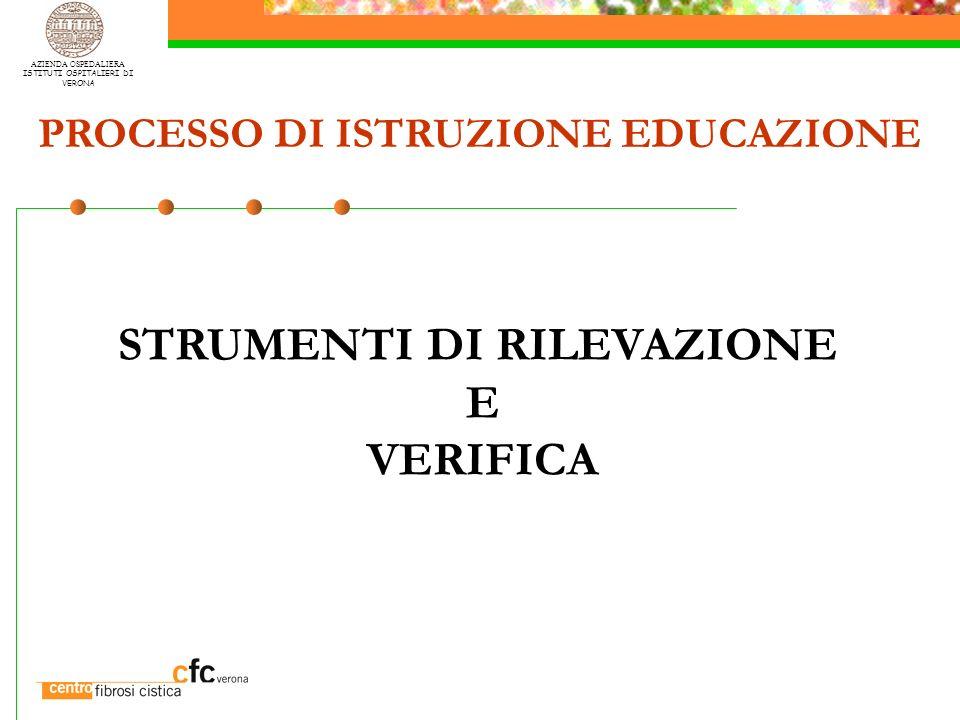 PROCESSO DI ISTRUZIONE EDUCAZIONE STRUMENTI DI RILEVAZIONE