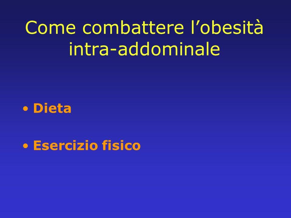 Come combattere l'obesità intra-addominale