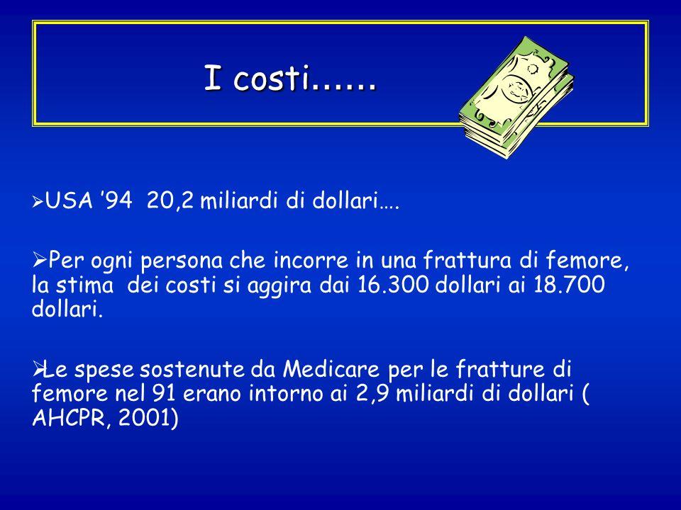 I costi…… USA '94 20,2 miliardi di dollari….