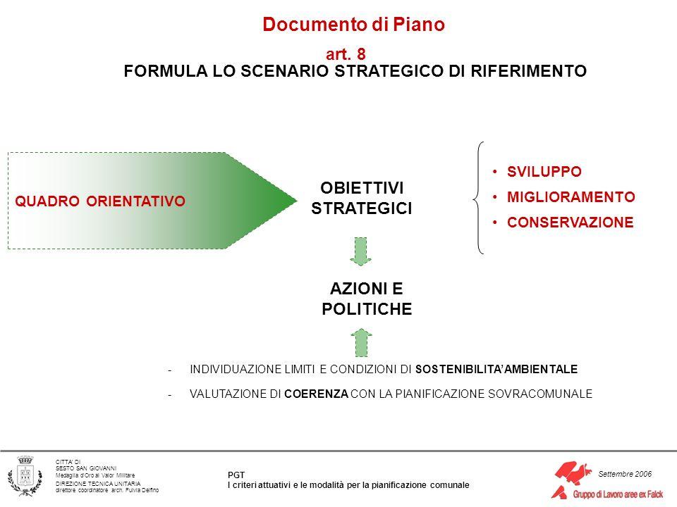 FORMULA LO SCENARIO STRATEGICO DI RIFERIMENTO