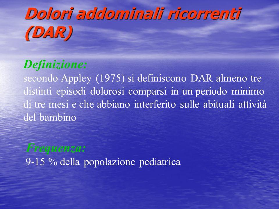 Dolori addominali ricorrenti (DAR)