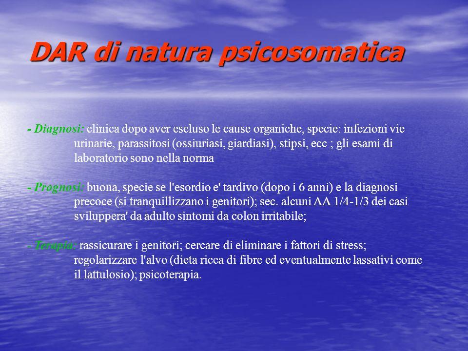 DAR di natura psicosomatica