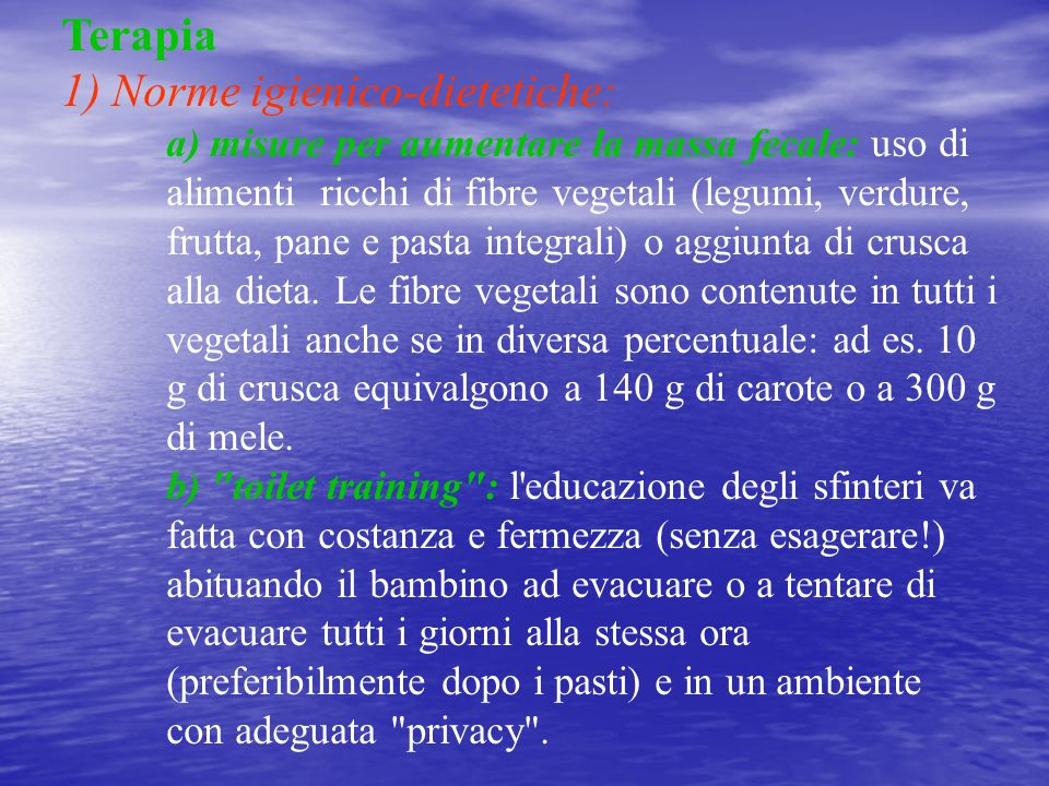1) Norme igienico-dietetiche: