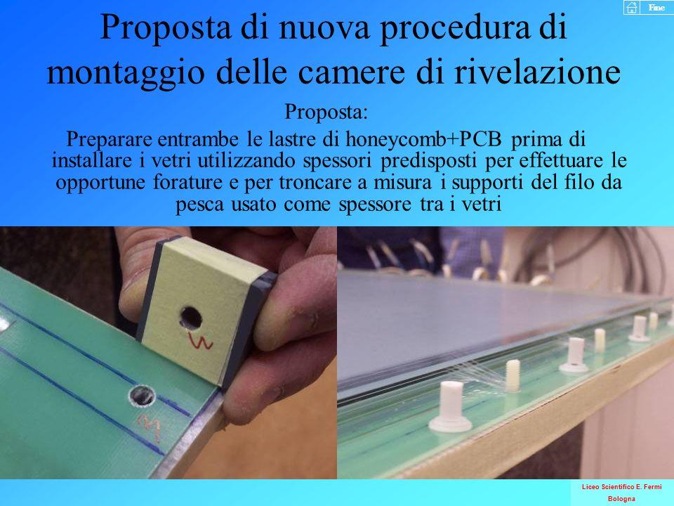 Proposta di nuova procedura di montaggio delle camere di rivelazione