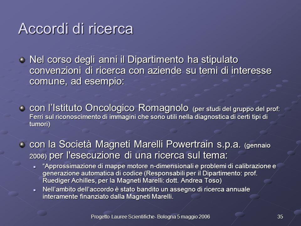 Progetto Lauree Scientifiche- Bologna 5 maggio 2006