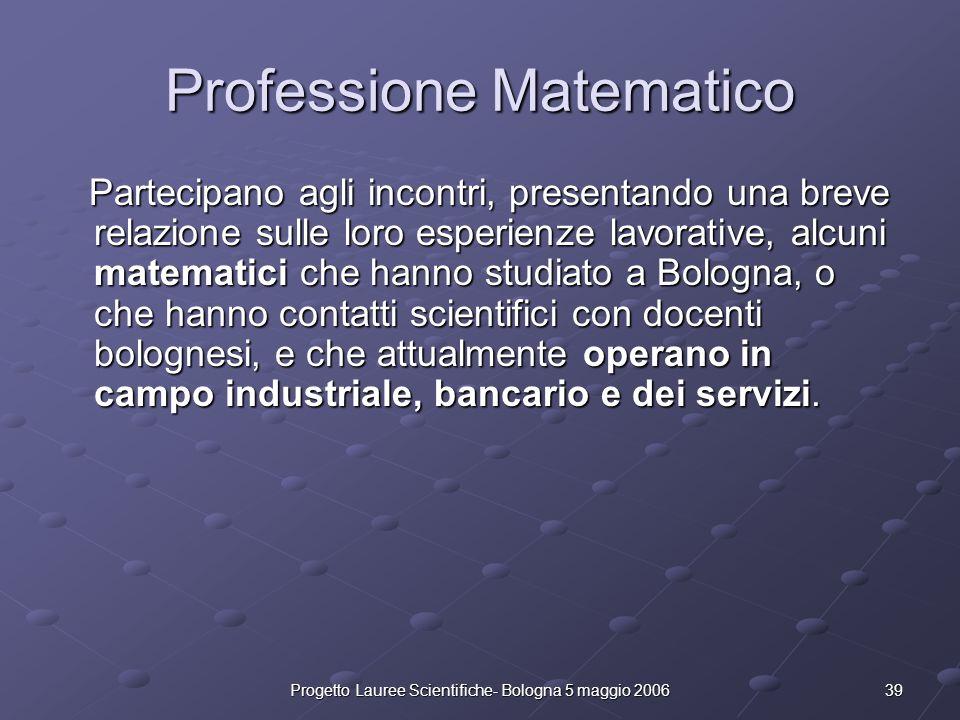 Professione Matematico