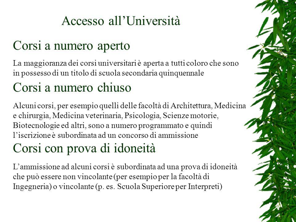 Accesso all'Università