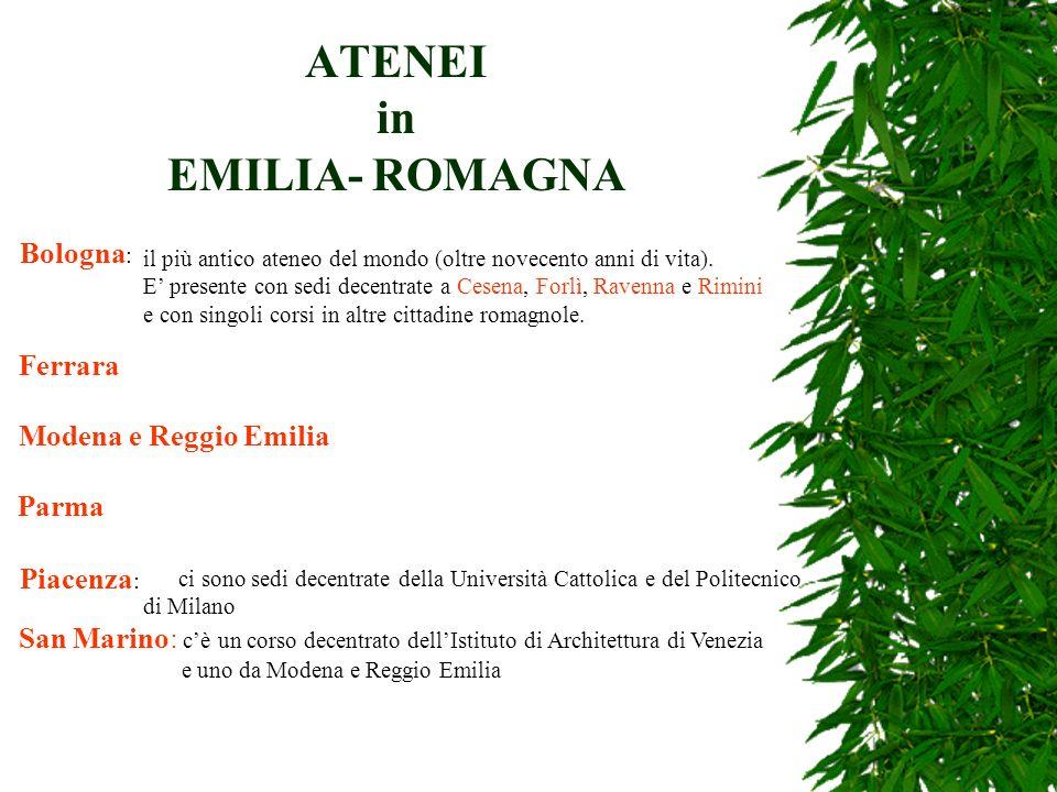 ATENEI in EMILIA- ROMAGNA