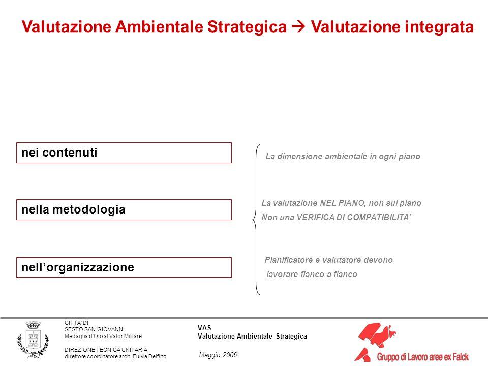 Valutazione Ambientale Strategica  Valutazione integrata