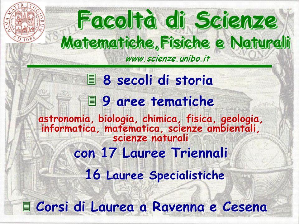 16 Lauree Specialistiche  Corsi di Laurea a Ravenna e Cesena
