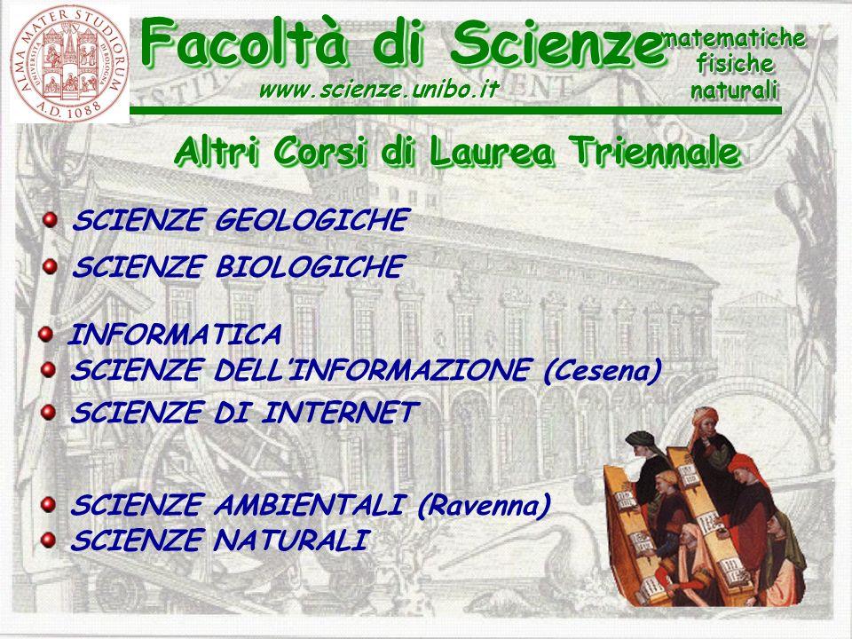 Facoltà di Scienze Altri Corsi di Laurea Triennale SCIENZE GEOLOGICHE