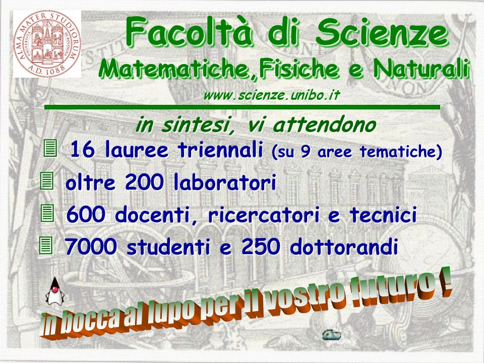 Facoltà di Scienze Matematiche,Fisiche e Naturali