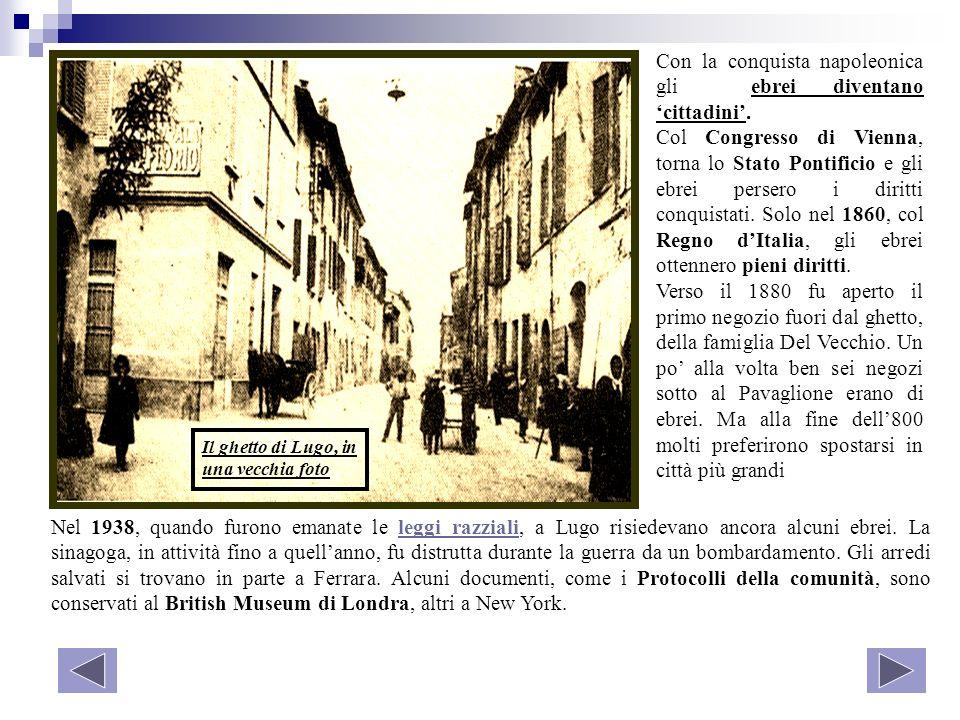 Con la conquista napoleonica gli ebrei diventano 'cittadini'.