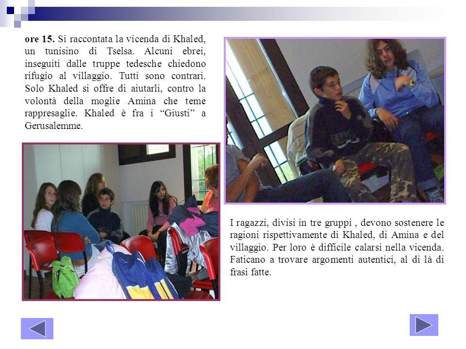 ore 15. Si raccontata la vicenda di Khaled, un tunisino di Tselsa
