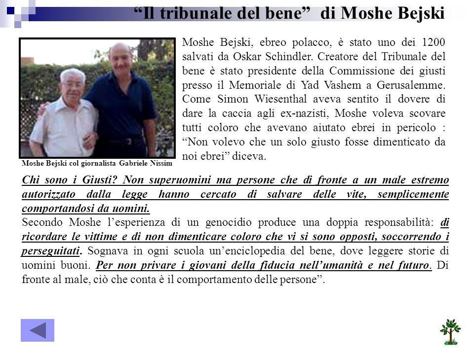 Il tribunale del bene di Moshe Bejski