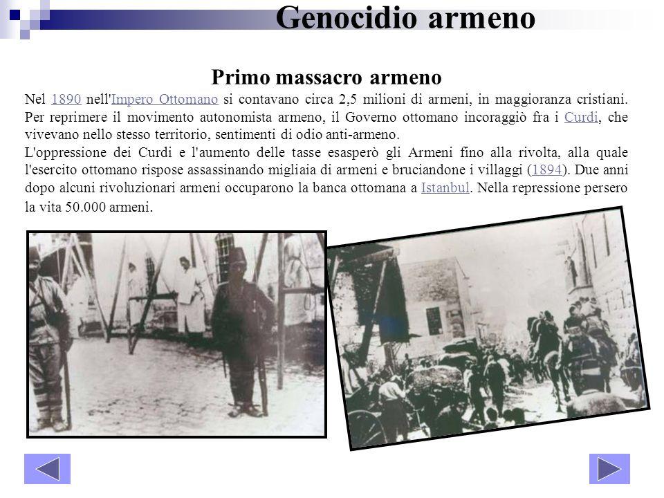 Genocidio armeno Primo massacro armeno