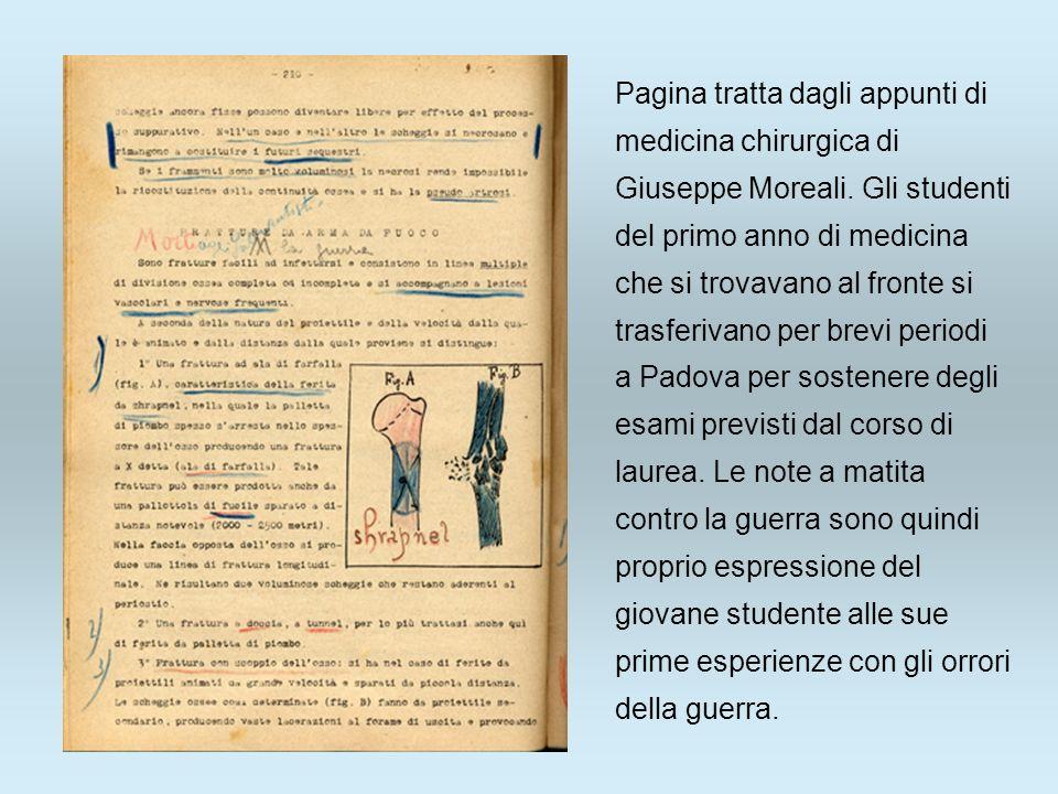 Pagina tratta dagli appunti di medicina chirurgica di Giuseppe Moreali