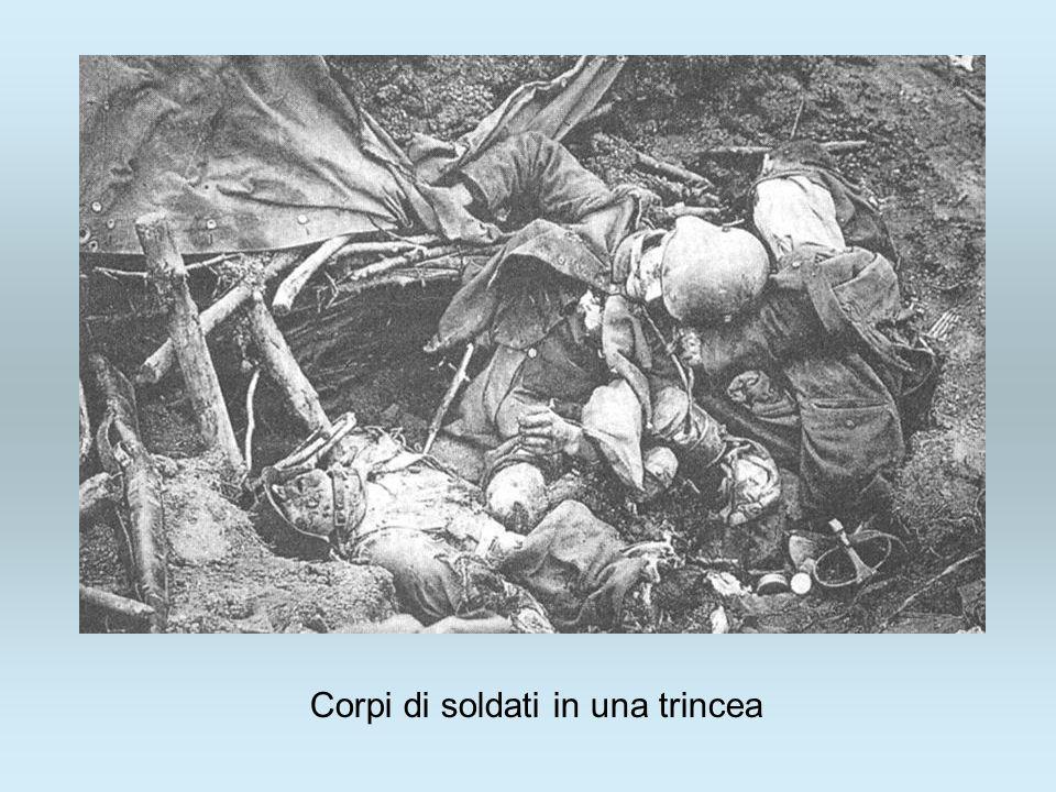 Corpi di soldati in una trincea