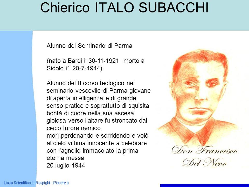 Chierico ITALO SUBACCHI