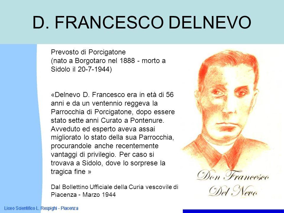 D. FRANCESCO DELNEVO Prevosto di Porcigatone