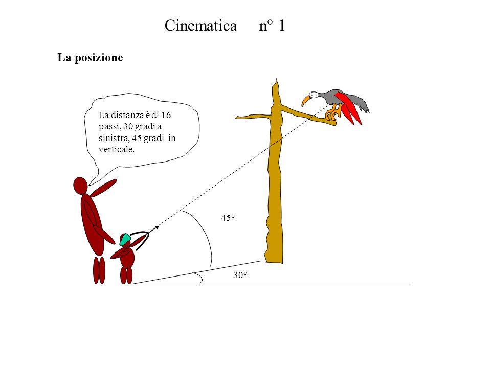 Cinematica n° 1 La posizione
