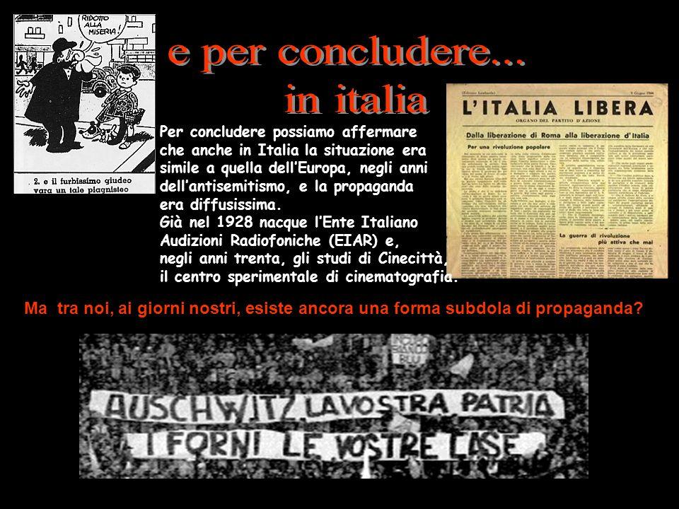 e per concludere... in italia