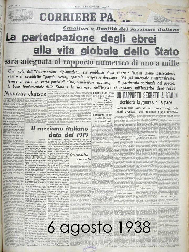 6 agosto 1938