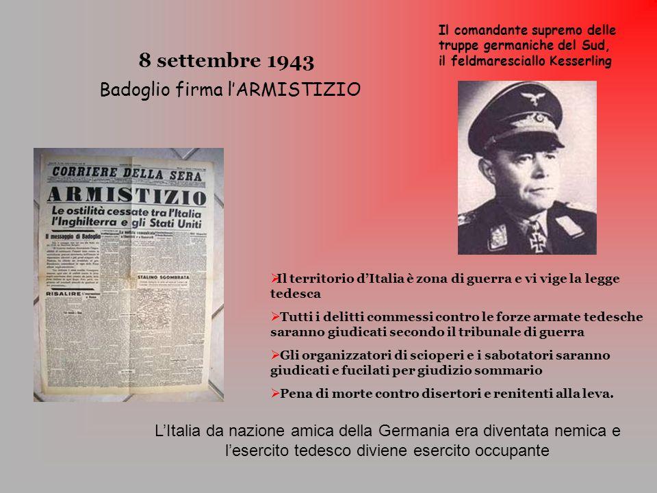 Badoglio firma l'ARMISTIZIO
