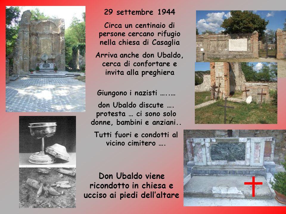 Don Ubaldo viene ricondotto in chiesa e ucciso ai piedi dell'altare