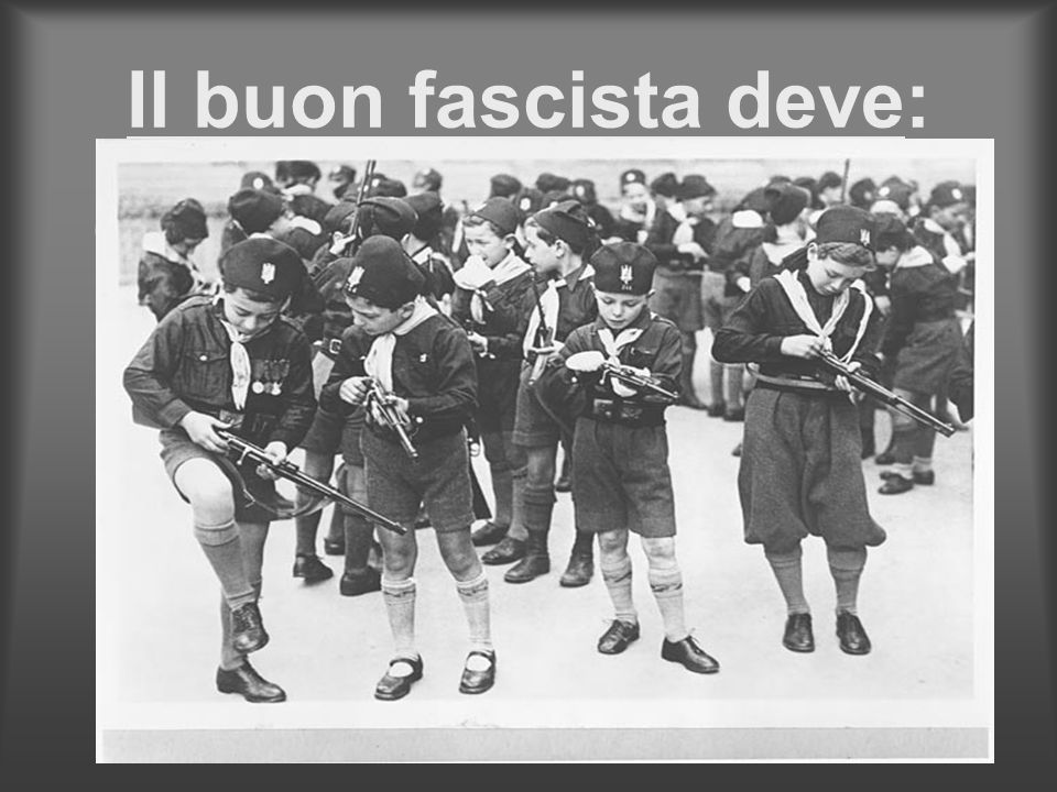 Il buon fascista deve: