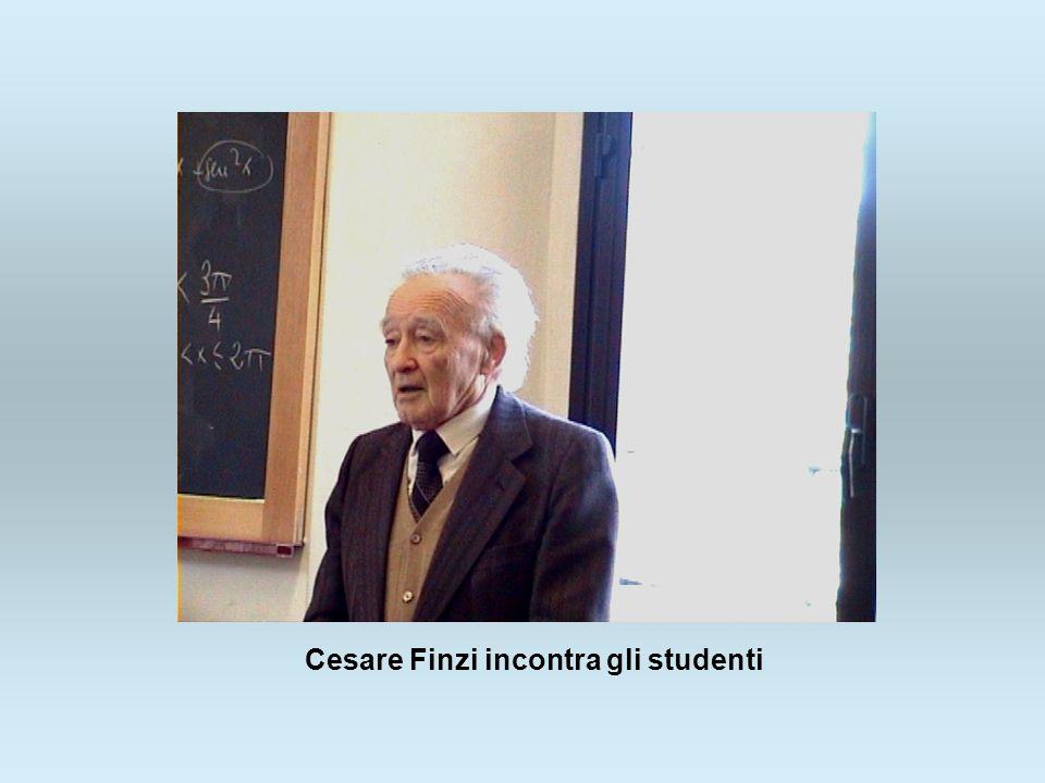 Cesare Finzi incontra gli studenti