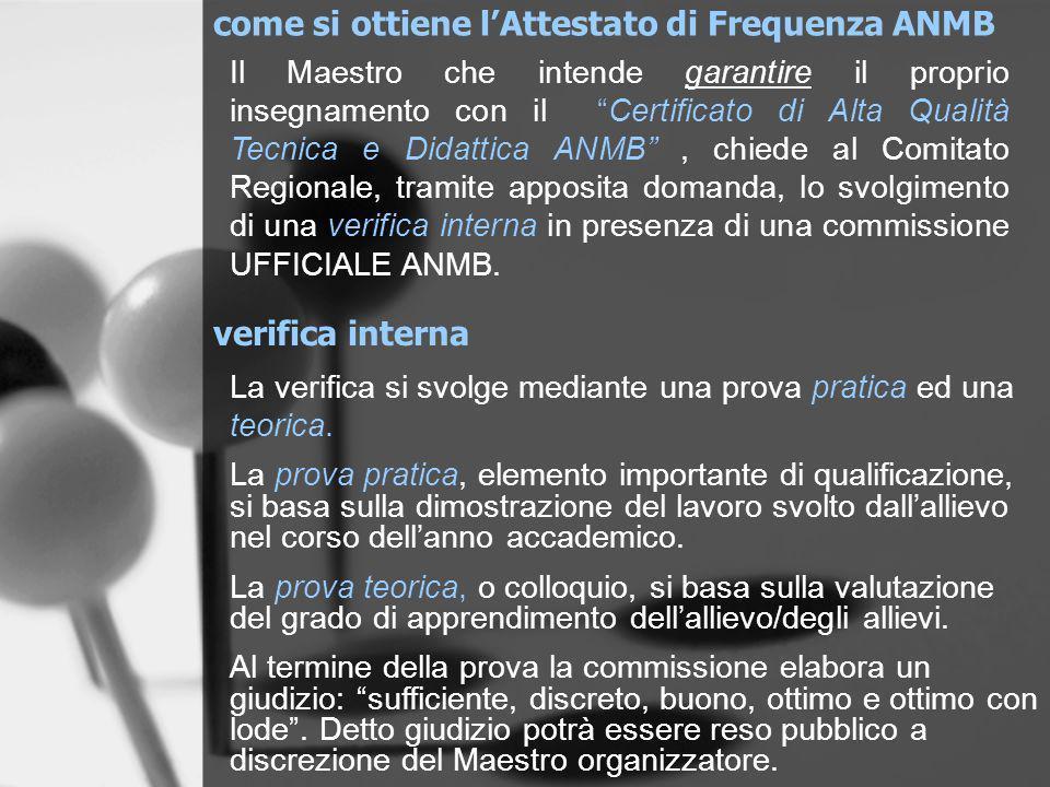 come si ottiene l'Attestato di Frequenza ANMB